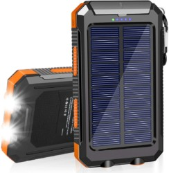 Solar-Charger-20000mAh-Solar-Power-Bank-Waterproof-Portable-Charger-with-Dual-5V-USB-Port-LED-Flashlight-Compatible-with-All-Smartphone-External-Battery-Pack-Perfect-for-Outdoor-Camping-Trip